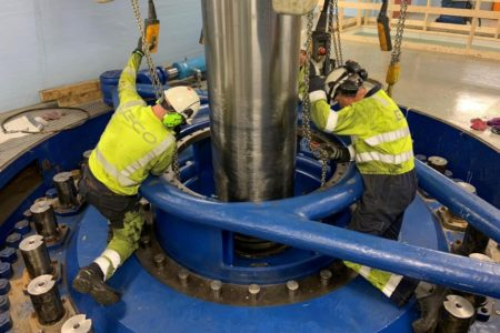 Usta demontasje av turbin