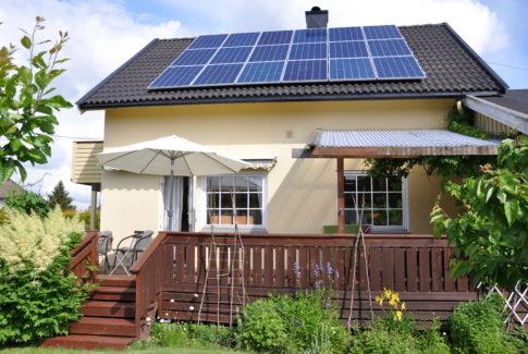 Solcelle-hus
