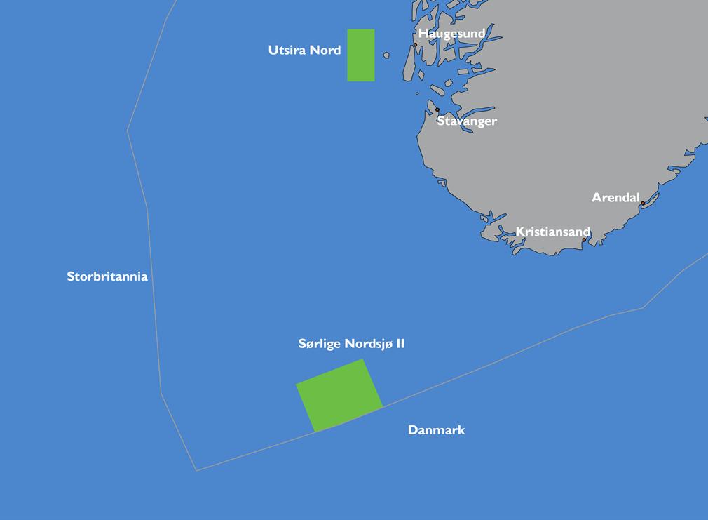 Sørlige Nordsjø II og Utsira Nord