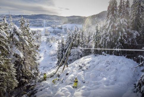 storm agder snøvær